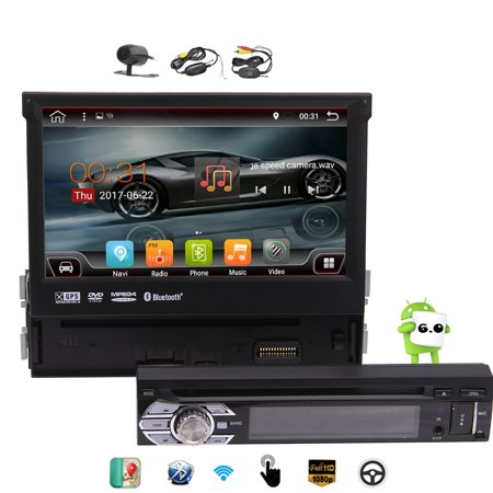 Wireless Rear Camera included! Newest Developed Car Stereo Detachable Touch Screen 7'' Single Din Car DVD Player In Dash GPS Navigation Car Radio System Support /WiFi/Video Out](black friday deals on car stereo systems)
