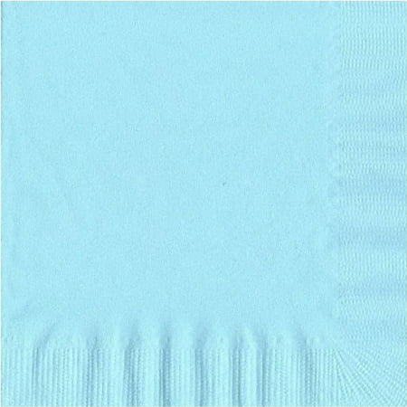 50 Plain Solid Colors Luncheon Dinner Napkins Paper - Light Blue
