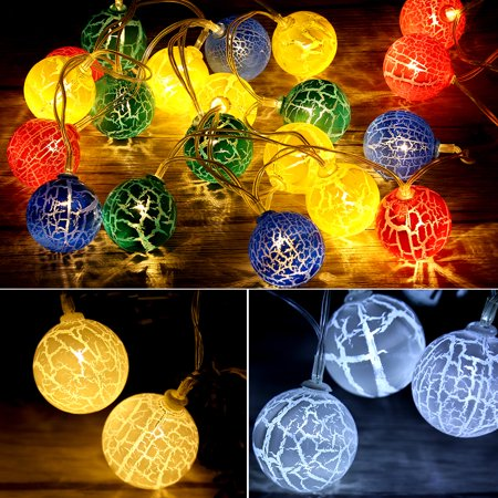 Dilwe Festival String Lights 20led Globe Fairy Light Ball Christmas Birthday Party Decor