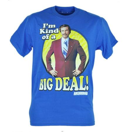 Anchorman Im Kind of A Big Deal Will Ferrel Ron Burgundy Tshirt Blue Tee
