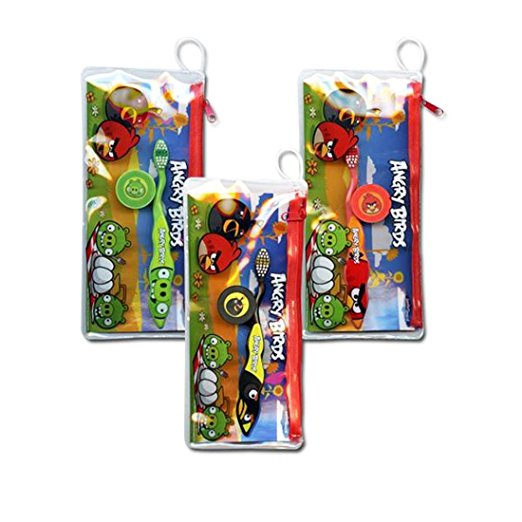 Angry Birds Toothbrush w/ Cover and Travel Kit Various Colors