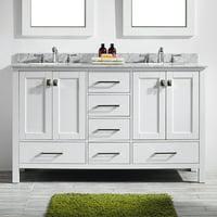 Eviva Aberdeen 60 in. Double Bathroom Vanity Set