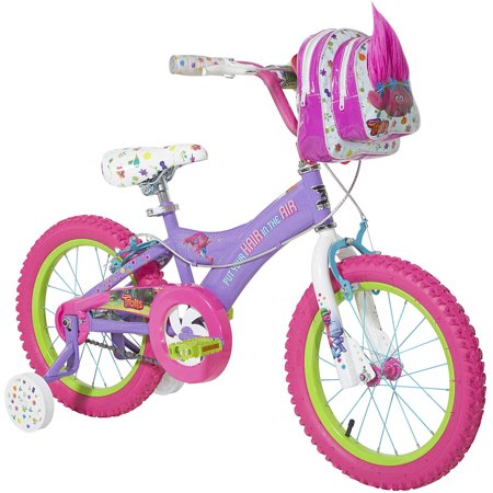 Trolls 16u0022 Kids Bike with Training Wheels - Purple/Pink