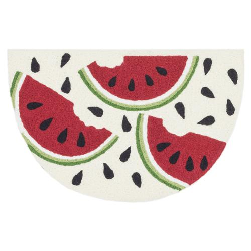 Hand-hooked Marcy Ivory  Red Watermelon Hearth Rug (1'9 x 2'9) by Overstock