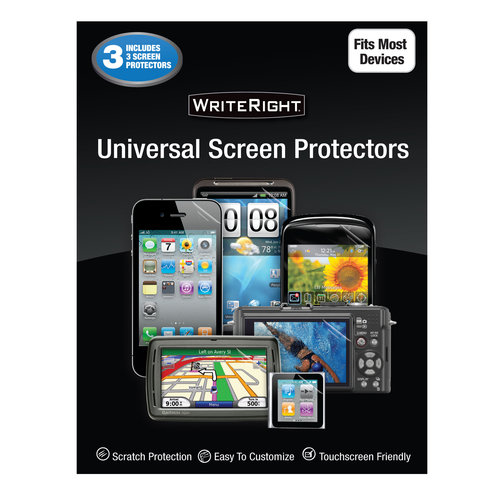 Onn Universal Screen Protectors, 3Pk