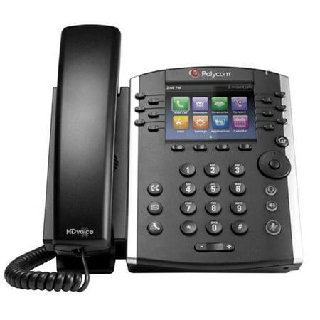 Refurbished Polycom VVX 400 (2200-46157-025) 12-line Mid-Range Business Media Phone with Color (Polycom Hd Voice Phone Manual Vvx 400)