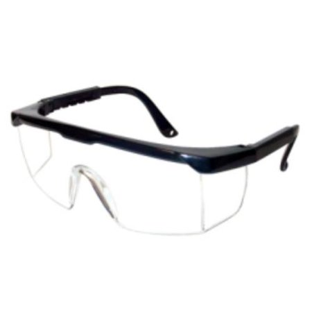 Anti Fog Safety Glasses - Safety Glasses, Strobe, Clear Anti-fog Lens, Black Frame, Adjustable Temples, Molded-in Sideshields