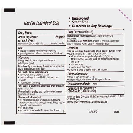 MiraLAX Mix-In Polyethylene Glycol 3350 Powder Laxative, 10