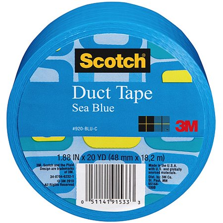 3M Scotch Duct Tape for Artists, Blue, 1.88u0022 x 20 yds.
