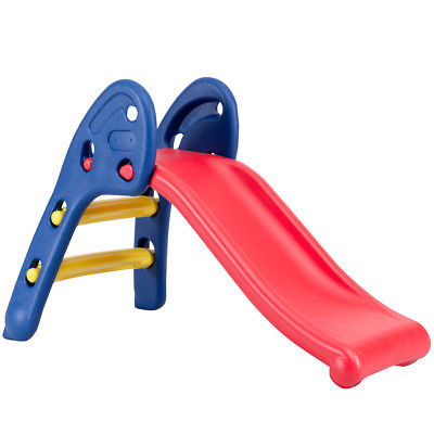Gymax Step 2 Children Folding Slide Plastic Fun Toy Up-down Kids
