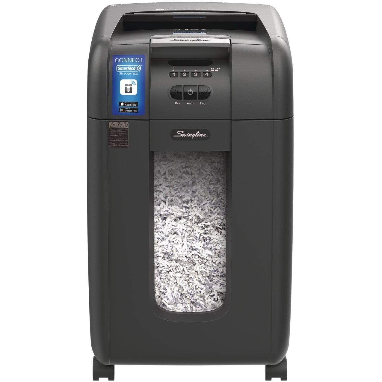 Swingline, SWI1757576, Stack-and-Shred 300X Auto Feed Shredder, 1 Each, Black