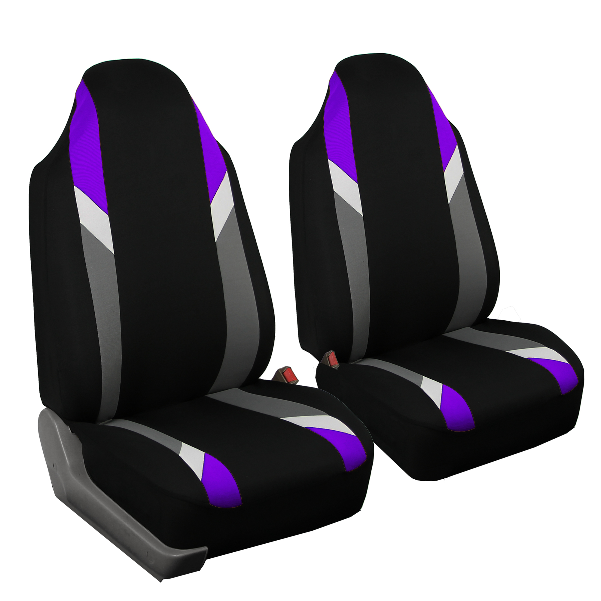FH GROUP Premium Modernistic Full Set Car Seat Covers, Purple