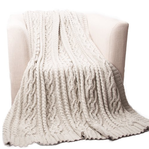 Loon Peak Shibles Knitted Luxury Chenille Throw