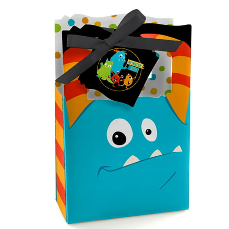 Monster Bash - Little Monster Birthday Party or Baby Shower Party Favor Boxes - Set of 12 - Babyshower Favors
