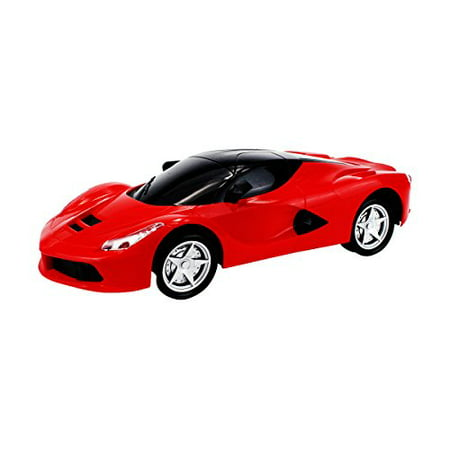 Ultimate Racing Supercar Battery Operated Kid's Bump and Go Toy Car w/ Cool Flashing Lights, Sounds (Colors May