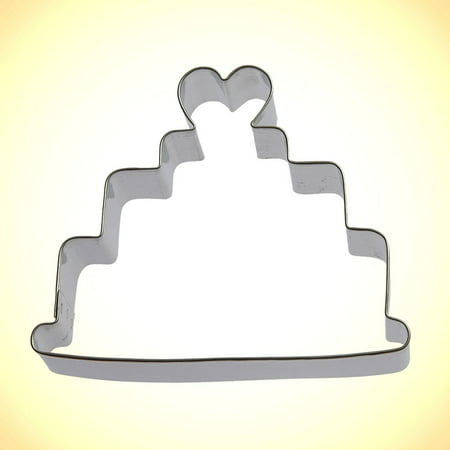 Wedding Cake Cookie Cutter 4 in B1345 - Foose Cookie Cutters - US Tin Plate Steel (Wedding Coozies)