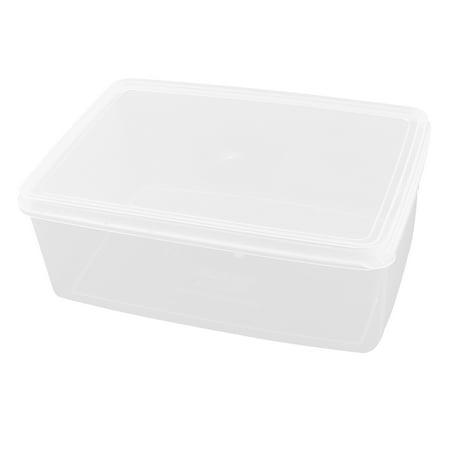 Unique Bargains Portable Airtight Container Kitchen Ware Fridge Crisper Clear (Clear Controlled Crispers)