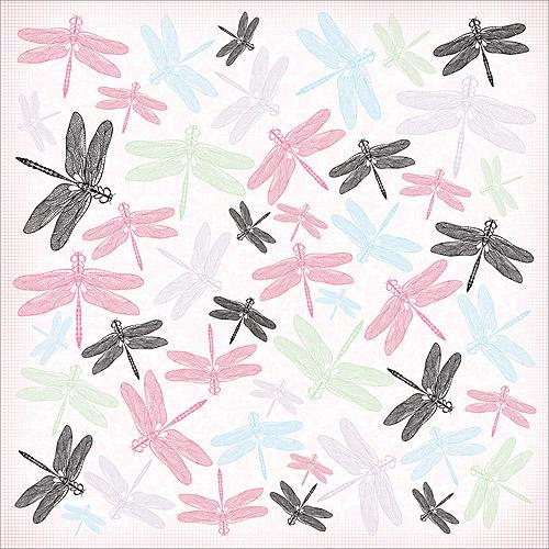 "Lavender Haze Spot Varnish Paper 12""X12""-Puce"