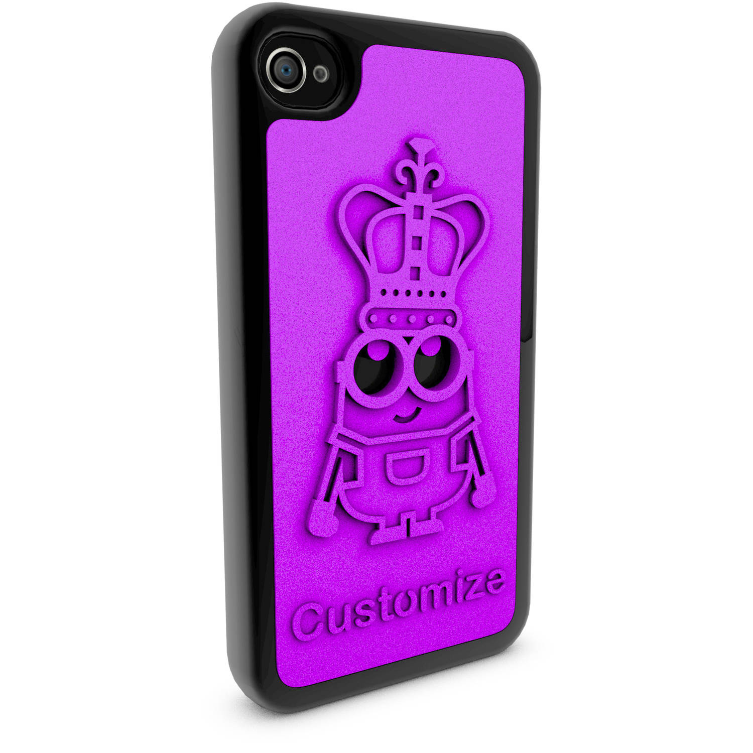 Apple iPhone 4 and 4S 3D Printed Custom Phone Case - Minions - King Bob