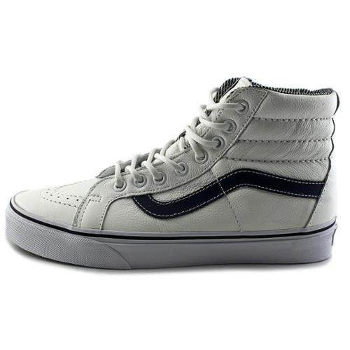 fcc2723a5d8bff Vans - Vans Sk8-Hi Reissue Leather White   Stripes High-Top ...