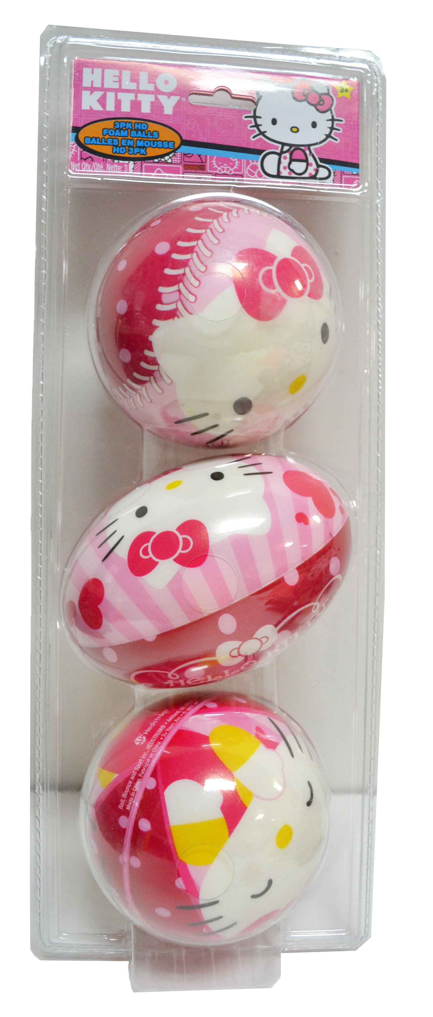 3-Pack Hello Kitty Foam Balls by