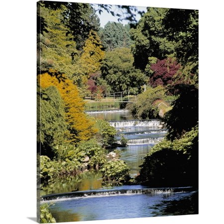 (Great BIG Canvas | The Irish Image Collection Premium Thick-Wrap Canvas entitled Mount Usher Gardens, River Vartry, Co Wicklow, Ireland;)