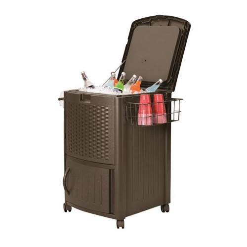 SUNCAST DCCW3000 WICKER COOLER WITH CABINET