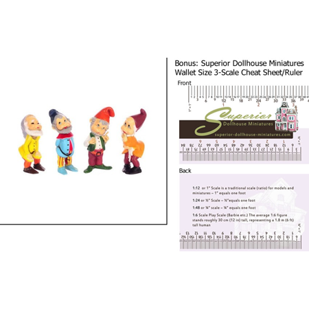 Dollhouse Miniature Gnome  3In  Assorted W 3 Scale Wallet Ruler