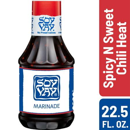 (2 Pack) Soy Vay Marinade & Dip, Spicy N Sweet Chili Heat, 22.5 oz Bottle