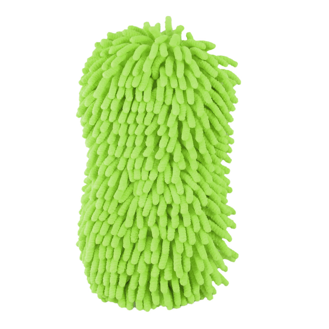 Elastic Palm Strap Greenyellow Microfiber Vehicle Window Sponge Pad Duster