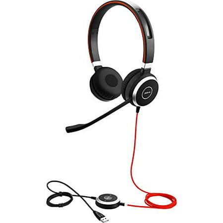 Jabra EVOLVE 40 UC 3.5mm and USB Stereo Office Music Phone Call Headset with Adjustable Comfort Headband Passive Ear Cushion Noise Cancellation and Do Not Disturb Busy LED (Best Headset For Gaming And Musics)