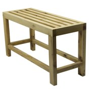 """ALFI brand AB4401 26"""" Solid Wooden Slated Single Person Sitting Bench"""