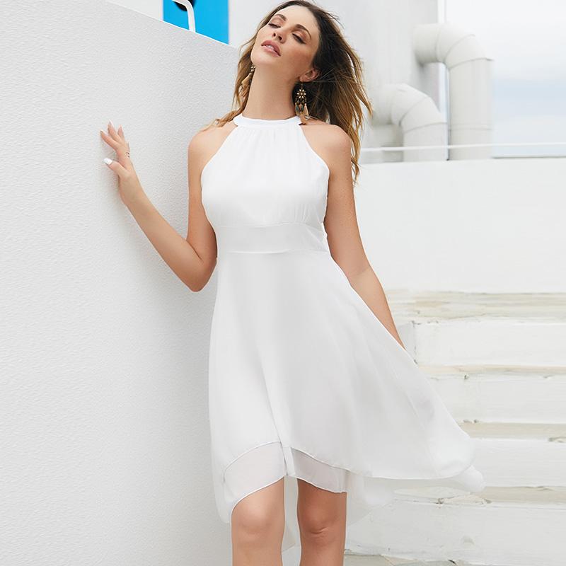 Sleeveless Cut Out Accordion Pleat Chiffon Wedding Fashion Dress