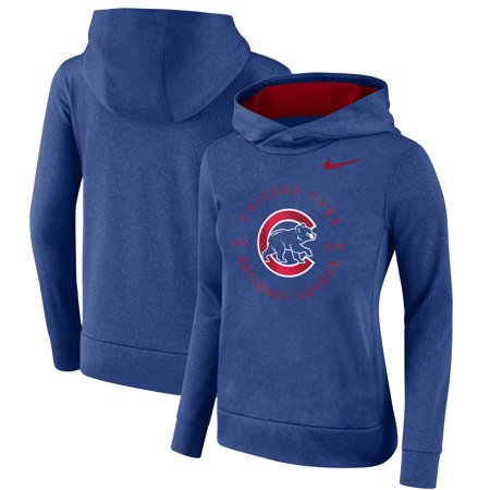 Chicago Cubs Nike Women's Therma Pullover Hoodie -
