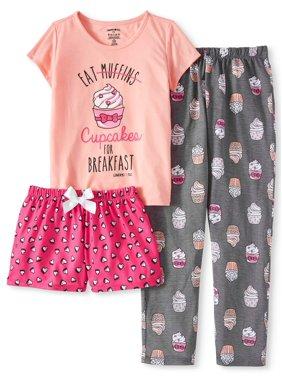 Limited Too Girls 3 piece pajama sleep set