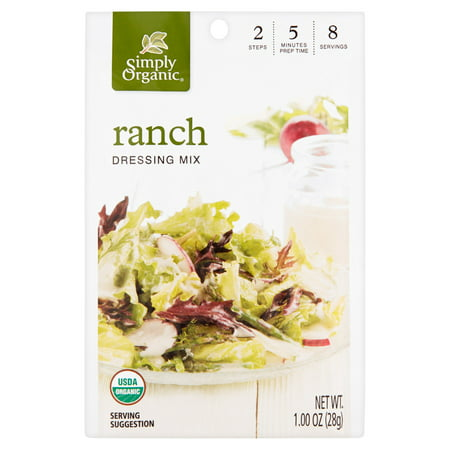 Simply Organic Ranch Dressing Mix, 1.00 oz, 12