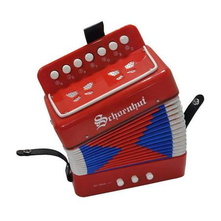 Schoenhut 7018R Accordion Music Instrument, Red