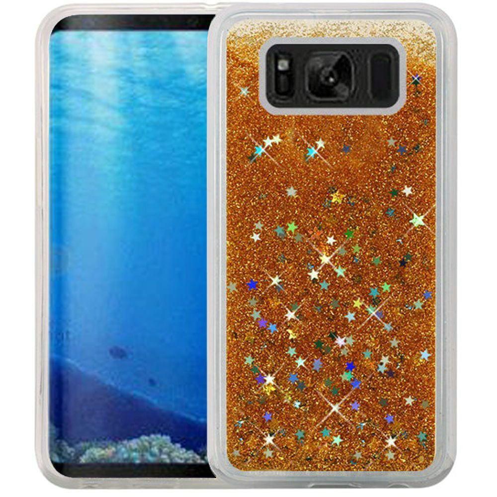 Samsung Galaxy S8 Case - Wydan Liquid Sand Glitter Bling Shockproof Fun Phone Cover Hot Pink