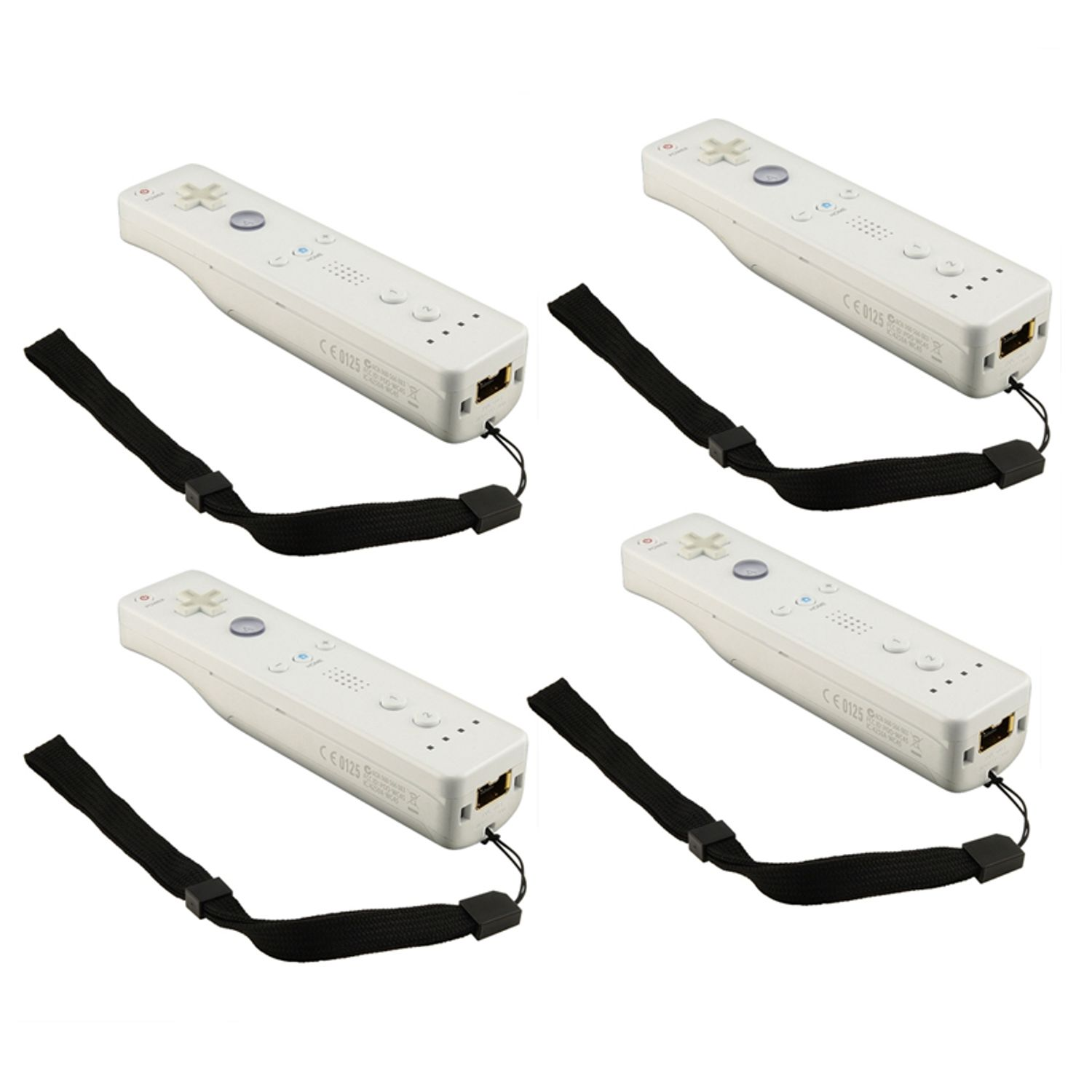 Insten Black Wrist Strap For Nintendo Wii Remote Control / Controller (4 Pack)