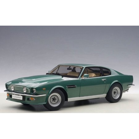 Forest Green Car (1985 Aston Martin V8 Vantage in Forest Green Model Car in 1:18 Scale by AUTOart)