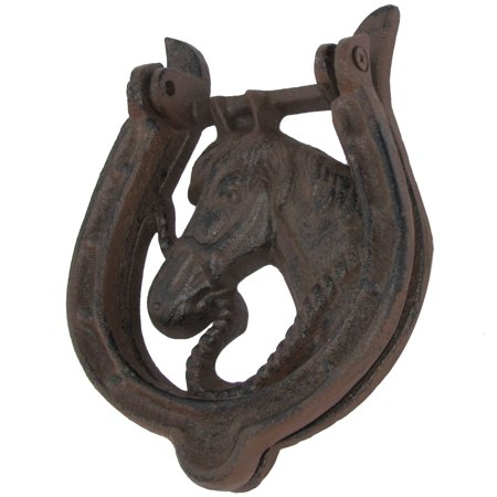 Cast Iron Western Horseshoe Door Knocker Rustic Old West Home Decor - Old West Decor