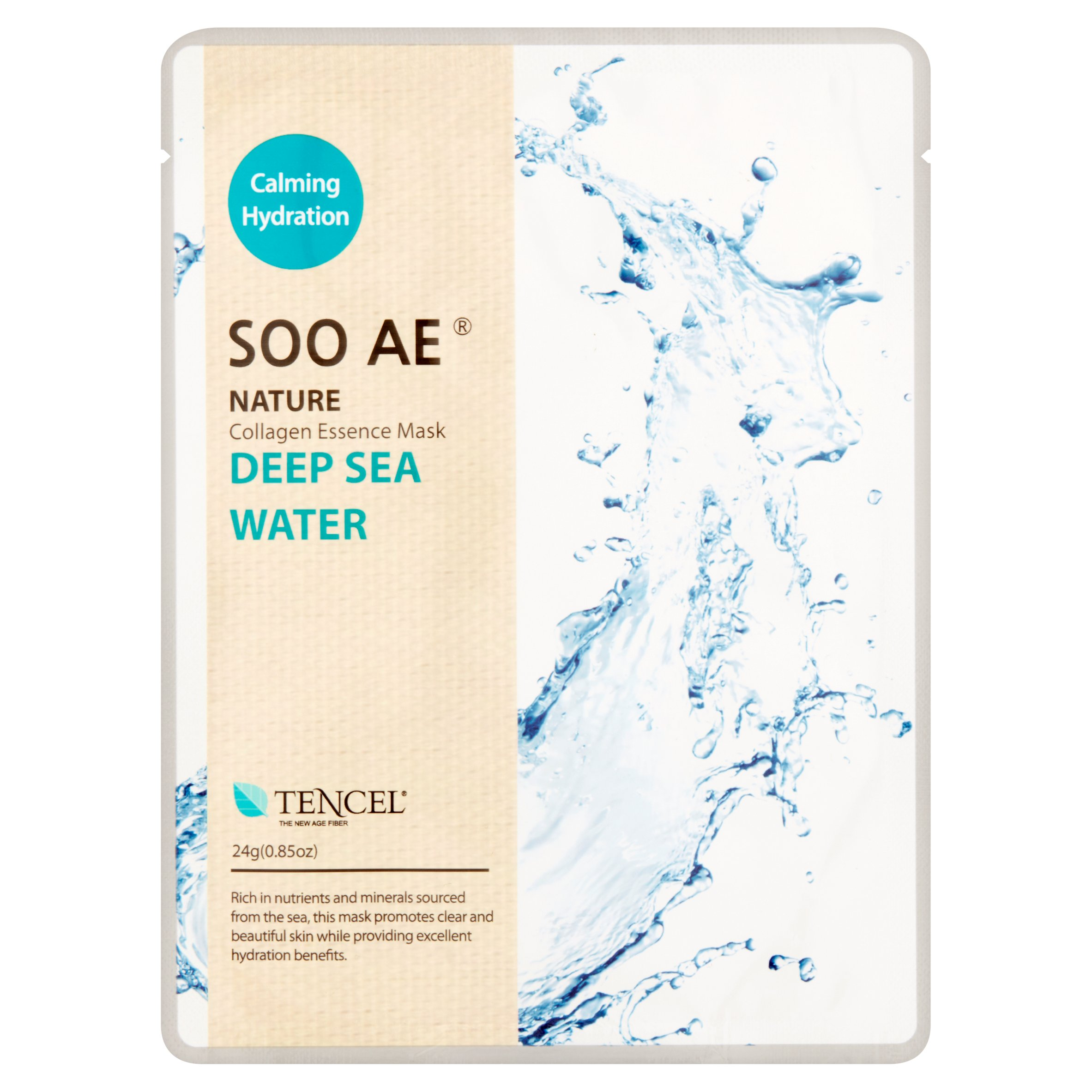 Soo Ae Nature Deep Sea Water Collagen Essence Mask, 0.85 oz