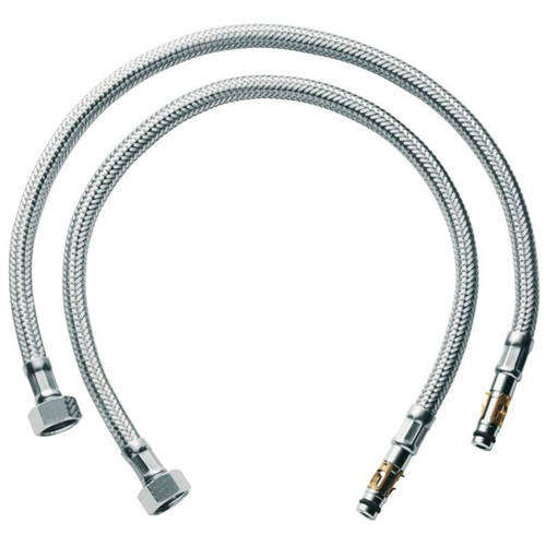 """Grohe 45484000 18-1/2"""" Flexible Connection Hose (2 Pack)"""