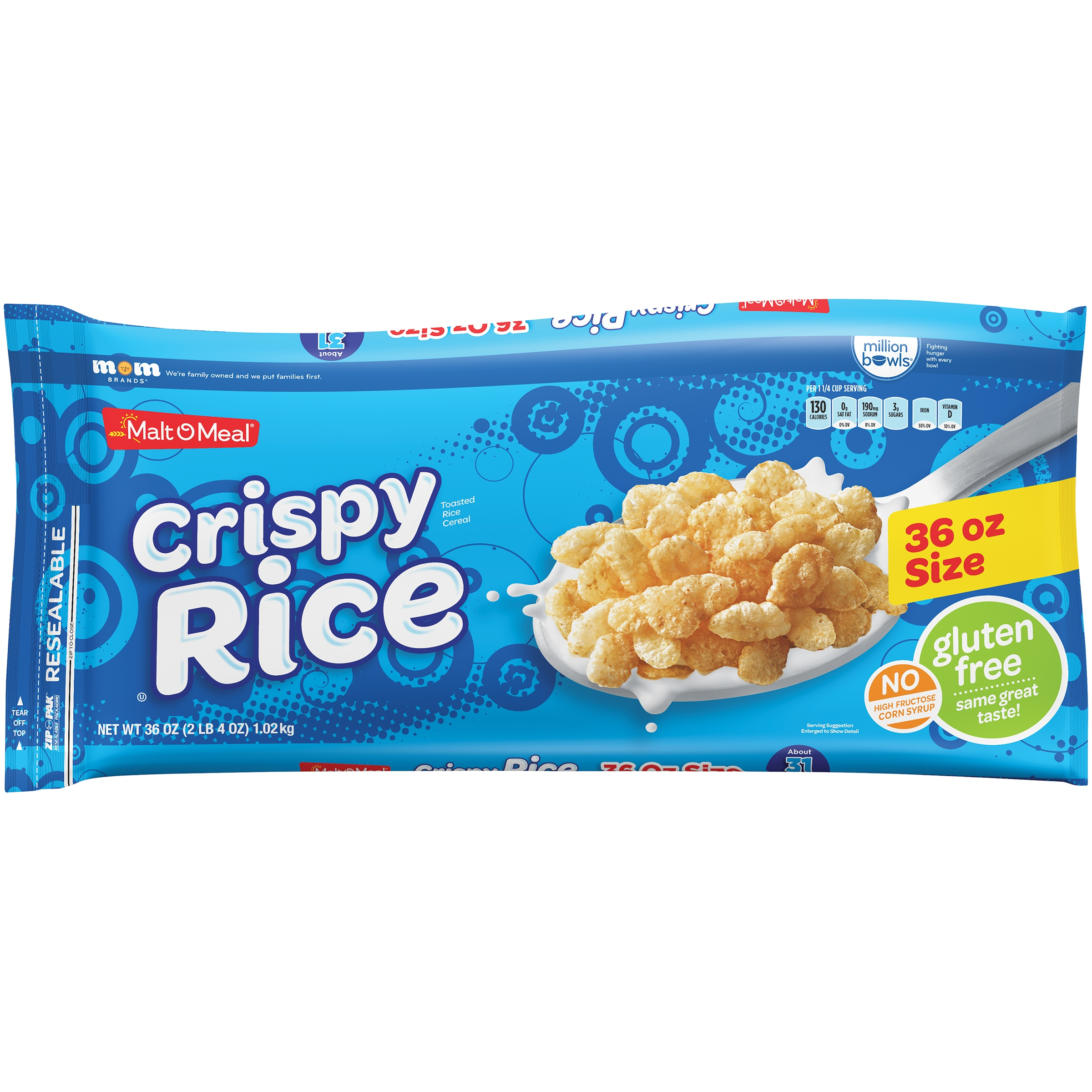 Mom Brands Malt - o - meal Crispy Rice Cereal, 36 Oz