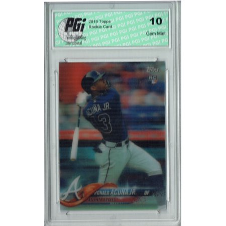 Ronald Acuna Jr 2018 Topps 3d 54 Just 269 Cards Made Rookie Card Pgi 10