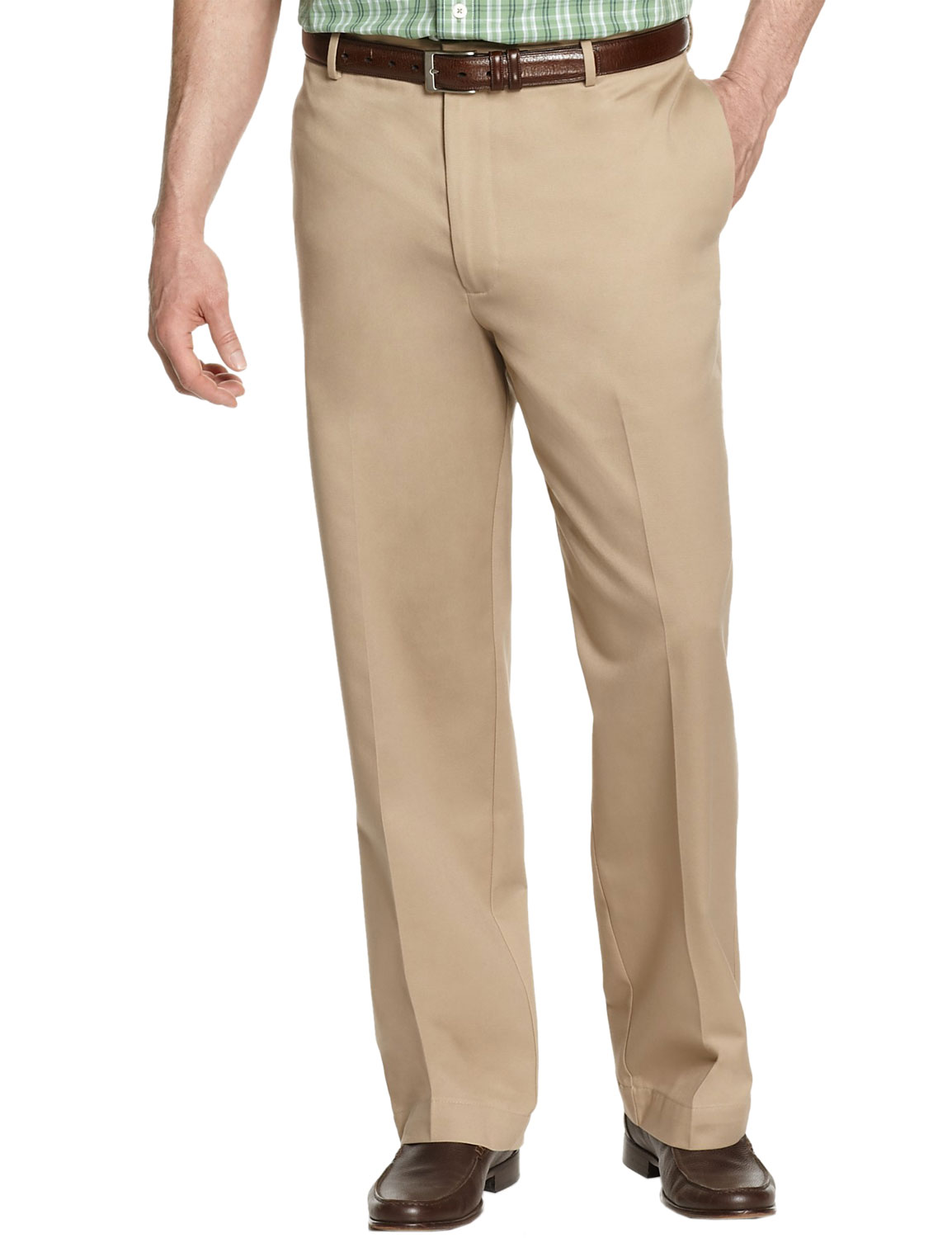 IZOD Big and Tall Mens American Chino Extend Twill Pants Khaki 46 x 34