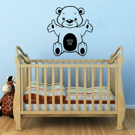 (Stickalz llc Bear Hug Me Nursery Vinyl Sticker Wall Art)