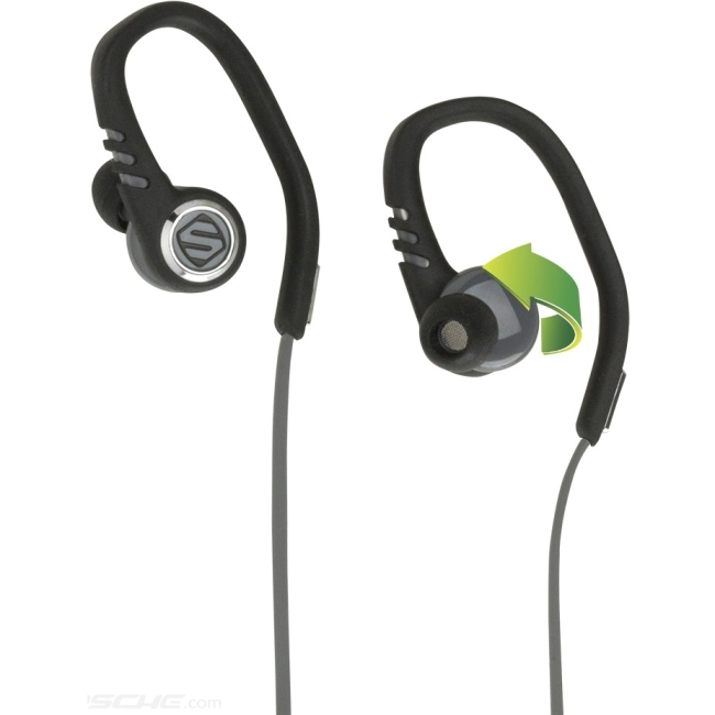 Scosche HPSC3TI - SPORT CLIP EARBUDS WITH TAPIT REMOTE AND MIC (BLACK/GRAY)
