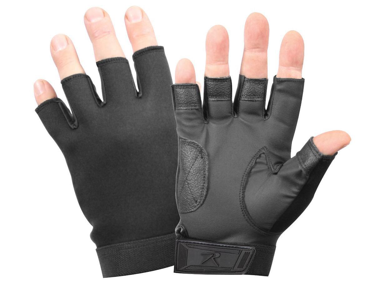 Rothco 3460 Black Fingerless Neoprene Gloves by Rothco