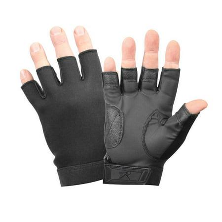 Rothco 3460 Black Fingerless Neoprene Gloves
